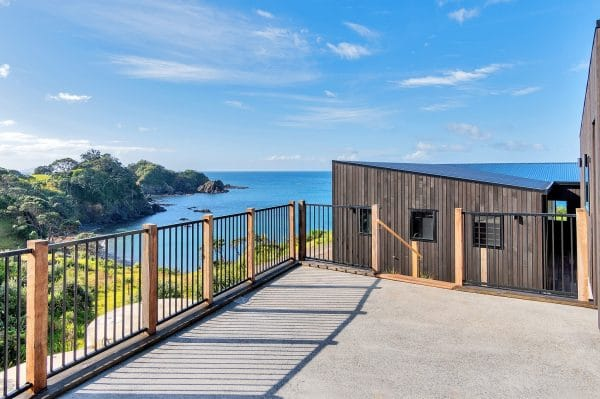 deck and balustrade with scenic background