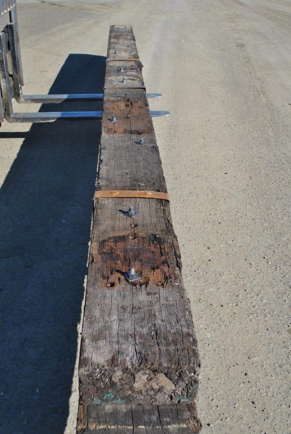 Long rustic hardwood beam