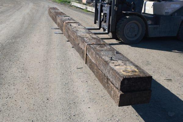 long beam made of rustic hardwood