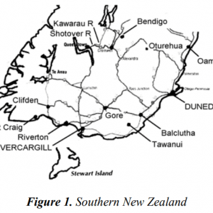 regional map of Southern New Zealand