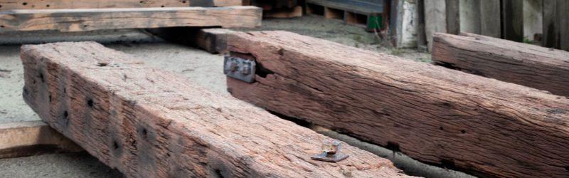 sand blasted rustic hardwood beam